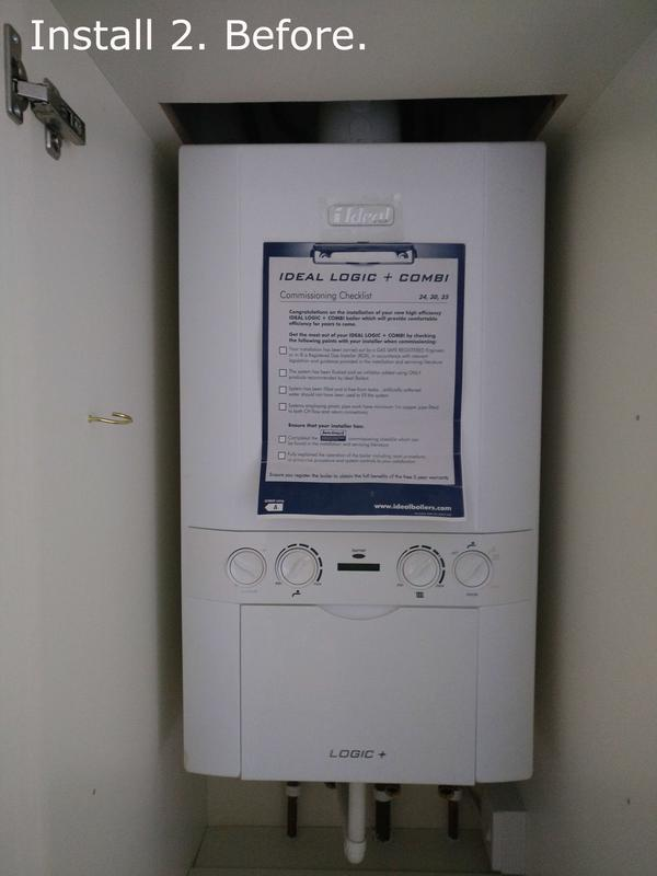 Image 13 - Install 2. This boiler was only 7 years old, but it was more financially viable to replace it.