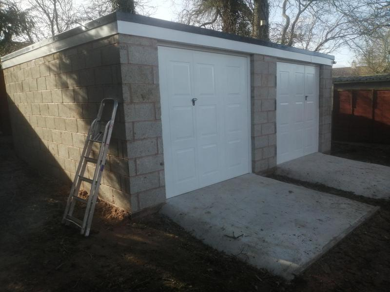Image 1 - Double garage with georgian doors and EPDM rubber roof with trims facia and guttering.