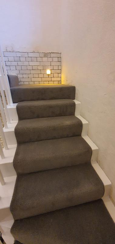 Image 2 - Jamyang Buddhist Centre. Supply & Fit short twist heavy domestic carpet for the stairs with runner style.