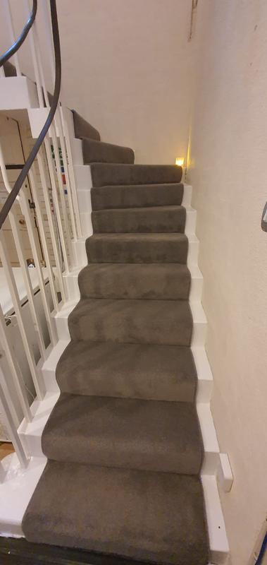 Image 3 - Jamyang Buddhist Centre. Supply & Fit short twist heavy domestic carpet for the stairs with runner style.