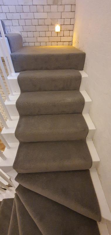 Image 5 - Jamyang Buddhist Centre. Supply & Fit short twist heavy domestic carpet for the stairs with runner style.