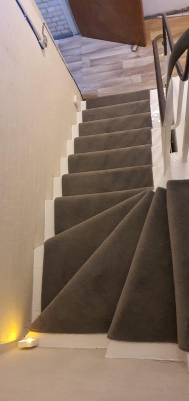 Image 6 - Jamyang Buddhist Centre. Supply & Fit short twist heavy domestic carpet for the stairs with runner style.