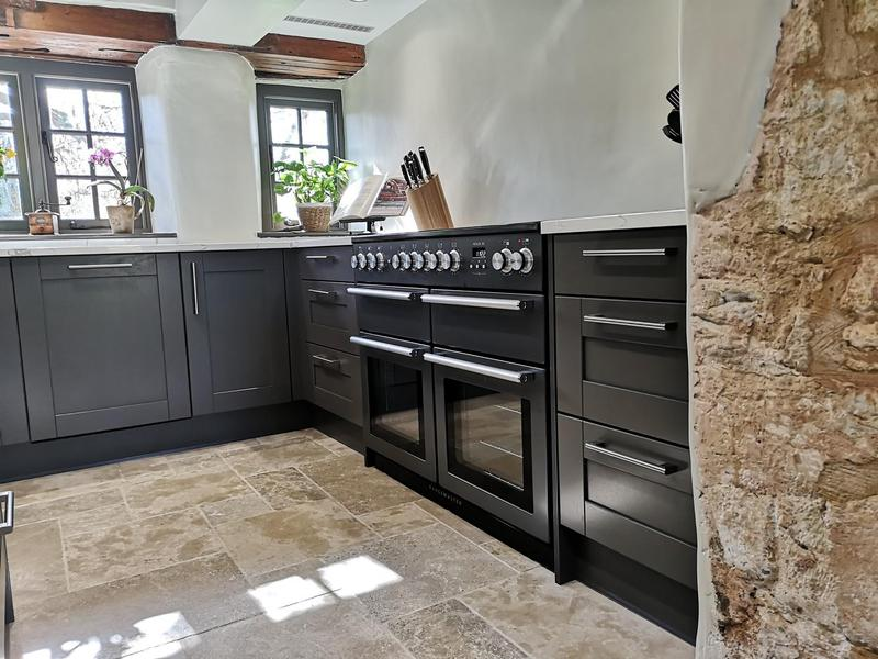 Image 1 - Painted shaker, quartz worktops and limestone floor.