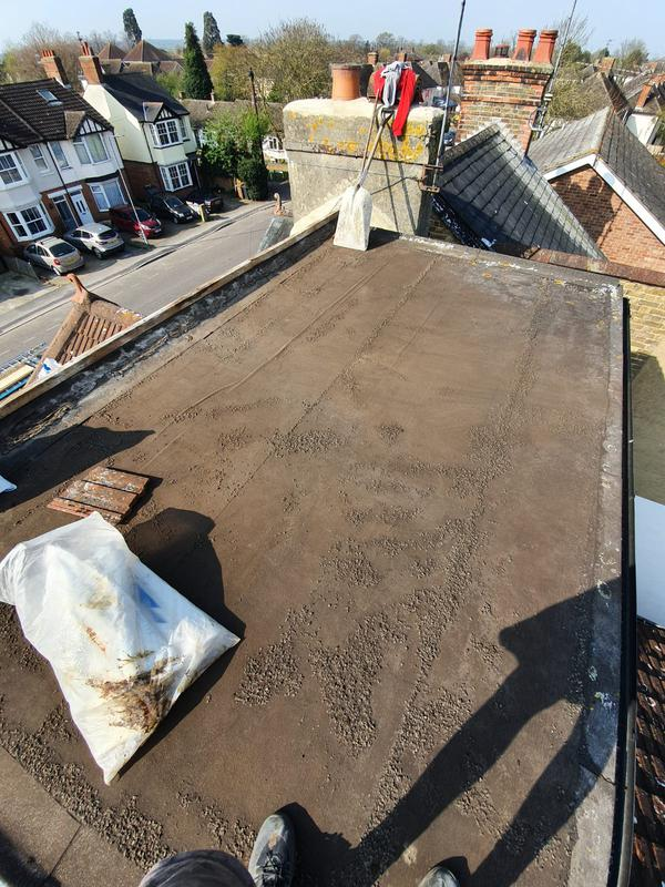 Image 3 - Old felt dormer flat roof covering.