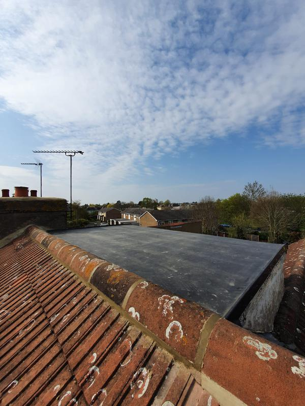 Image 4 - New rubber dormer flat roof covering and new top ridge line.