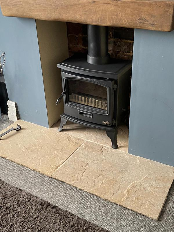 Image 3 - Stone hearth and rustic beam