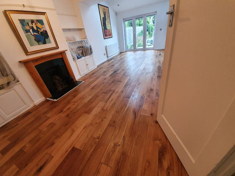 Image 33 - Sanded and oiled engineered flooring