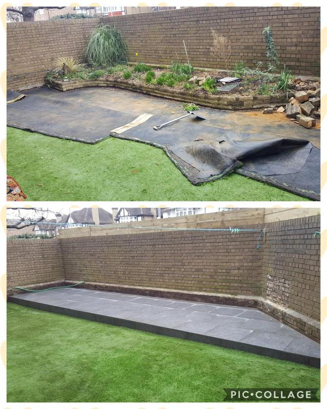 Image 41 - Here we have undertaken a small garden refurb in wallington, excavated a tired looking raised flowerbed, replaced it with a contemporary porcelain look.