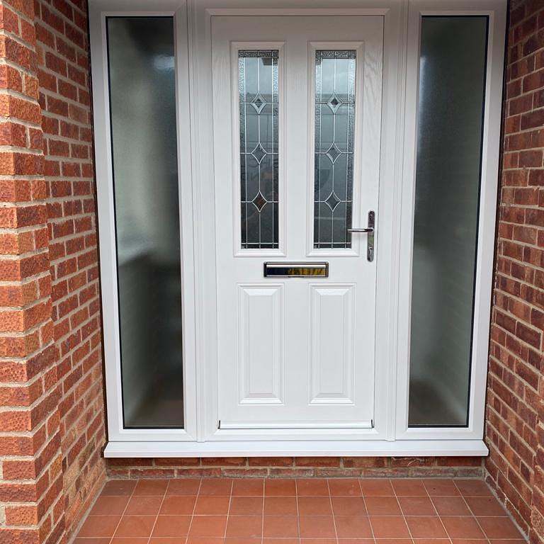 Image 45 - White on white composite door installed in East Leake