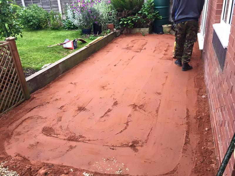 Image 193 - As you can see in this picture and the following 2 in order of this a Patio is being done for another customer in the Bridgnorth area.