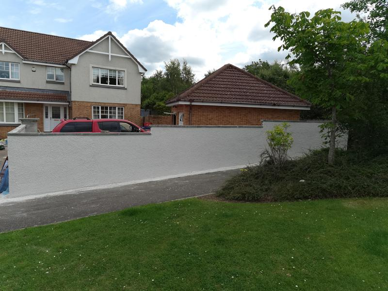 Image 1 - Garden walls built and coated with scotrend with a white chip finish.
