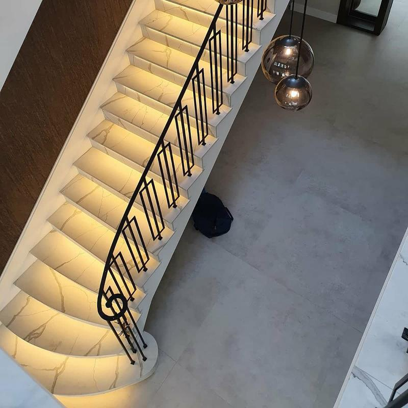 Image 3 - Led strip on the stairs in the recess cut out on these beautiful marble steps