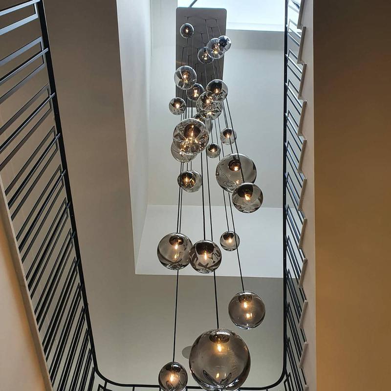 Image 2 - Chandelier hanging between three levels