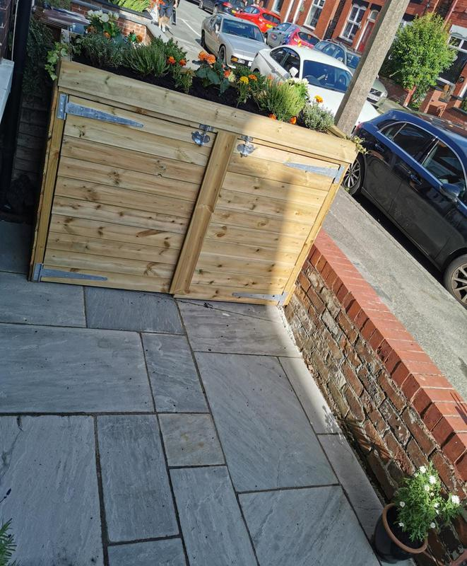 Image 21 - Small patio laid and bespoke binstore built