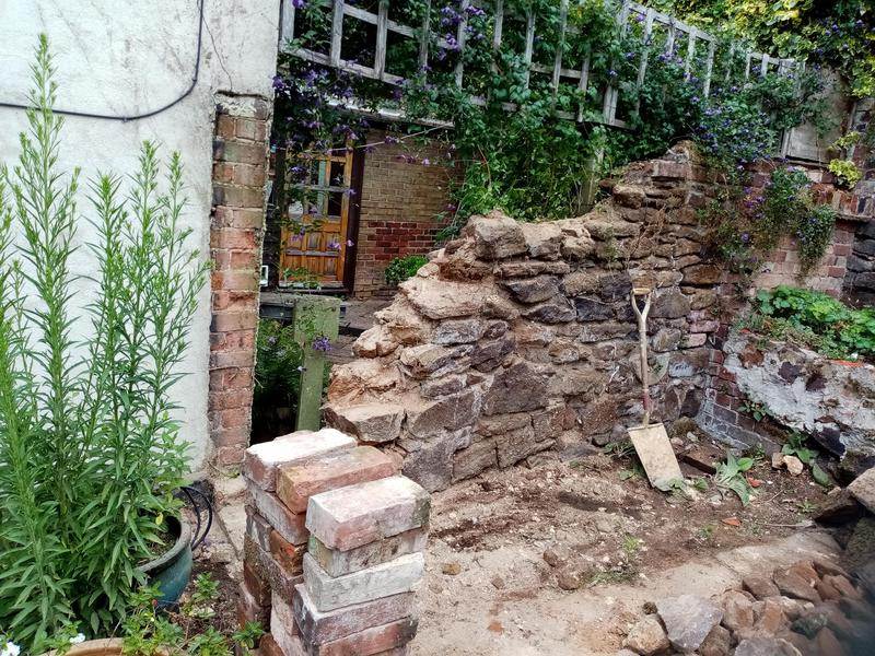 Image 3 - Failed old lime stone walling.. Taking down
