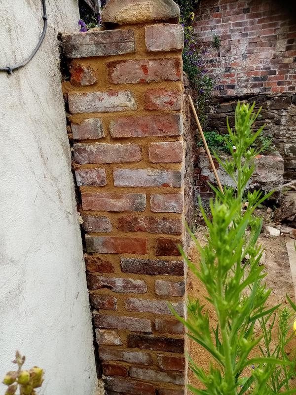 Image 2 - Old lime walling brickwork