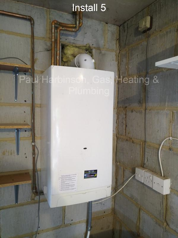 Image 3 - The old boiler, low quality, poorly installed.