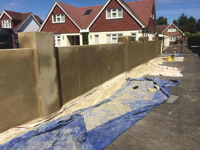Image 35 - Here we have a sand and cement rendered garden wall. Again a very satisfied customer.