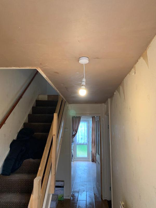 Image 8 - Hallway ceiling re-skim