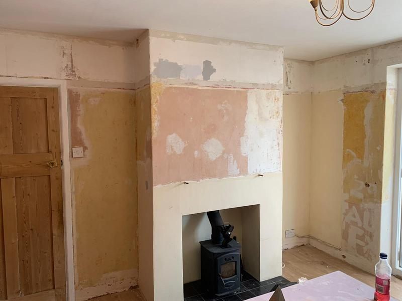 Image 6 - An over-skim in a living room on existing walls