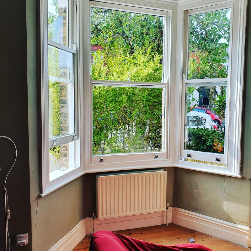 Image 15 - Double glazed units fitted into old single sash window painted with new furniture.