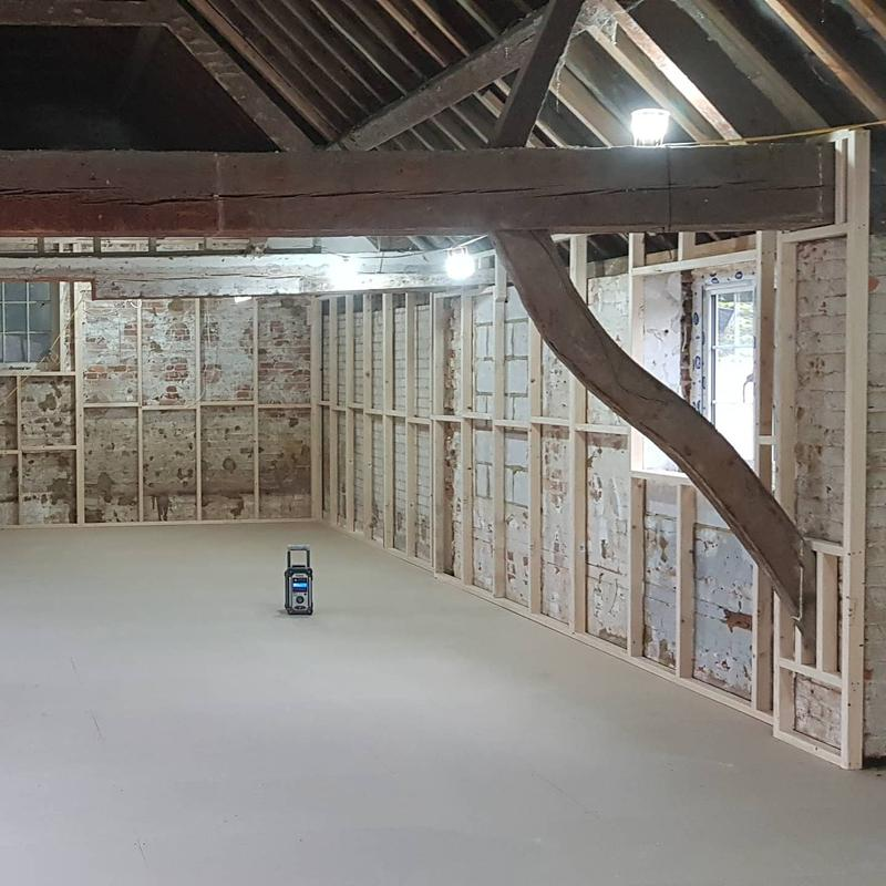 Image 7 - Studwork for a barn conversion in Christchurch.