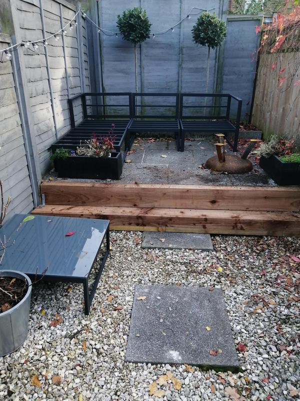 Image 109 - Remove /install new steps, (wooden sleepers.