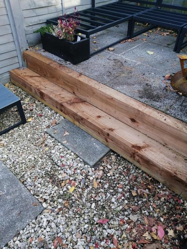 Image 108 - Remove/install new steps, (wooden sleepers.