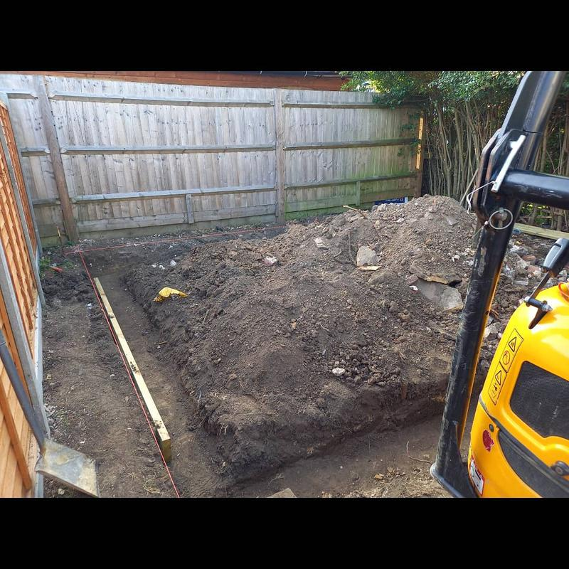 Image 4 - A man cave/reading room. Dependant on which side we were talking to. A concrete base with strip foundations dug at 750mm deep and 5x6m wide with a height of 2.5m. Built using a medium density concrete block, screeded floor, rendered inside and a pebbledashed exterior. Pictures to follow.