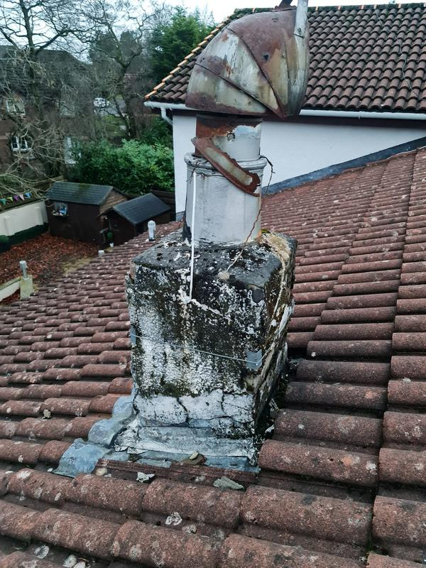 Image 6 - chimney before