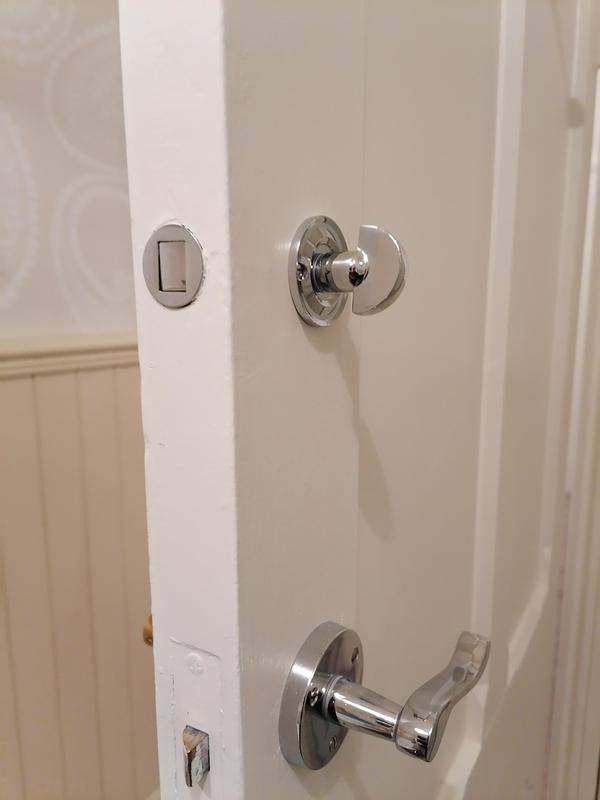 """Image 4 - We had a job fitting new bathroom locks in a Victorian house. as you can see it has a """"round"""" bolt fixture and is produced by Union Locks. It is easier to fit than a tradional bolt"""