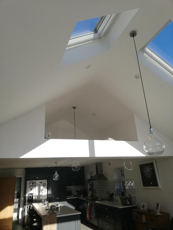 Image 2 - Brilliant white on this vaulted kitchen ceiling. A tricky job which ended with a fantastic result