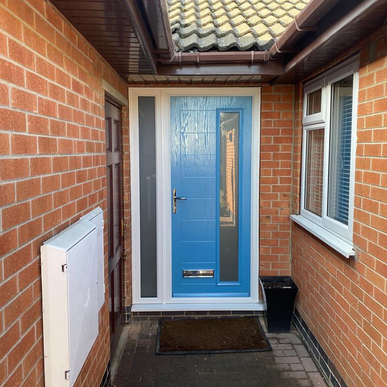Image 37 - Distinction composite door and side-screen installed in Grantham