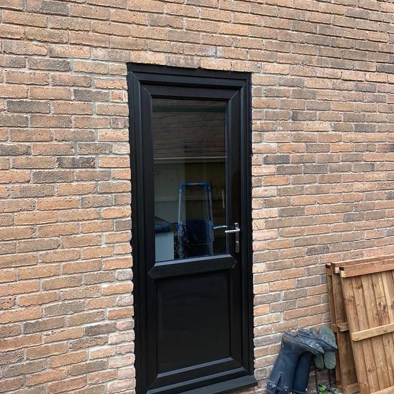 Image 9 - Black on White rear residential door installed in Gamston