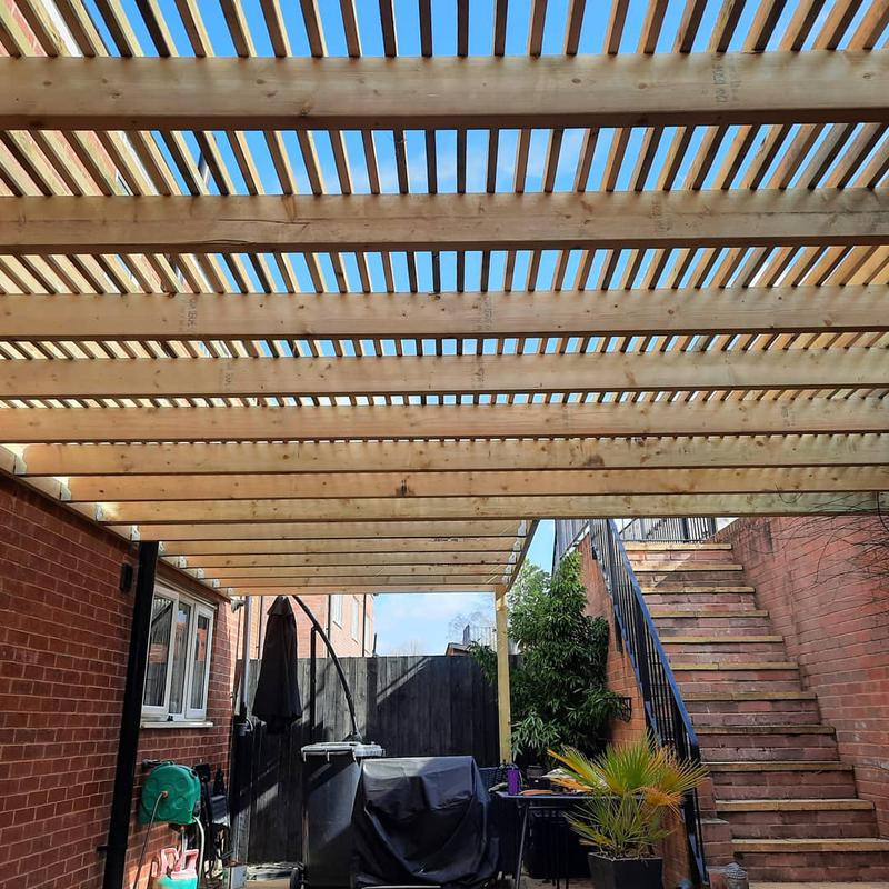 Image 2 - Timber Pergola structure we constructed to give some shade to the kitchen area