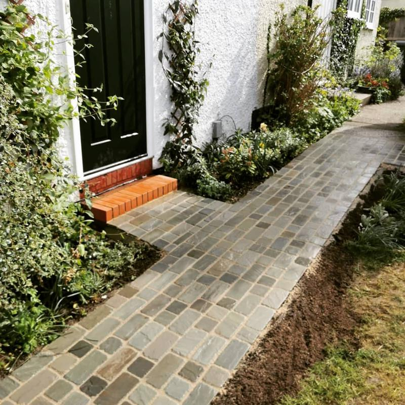 Image 1 - Rustic, cottage style cobbled path