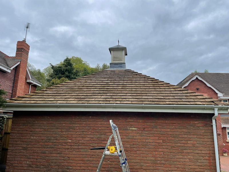 Image 2 - Pendress PowerClean Roof cleaning - during