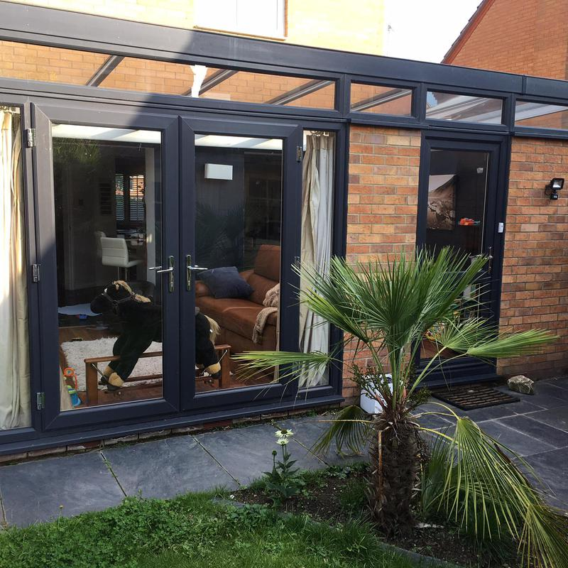 Image 13 - Replacement French door and UPVC fully glazed door, anthracite grey.