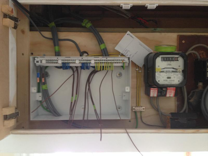Image 8 - Half way through wiring the new Consumer Unit (2)