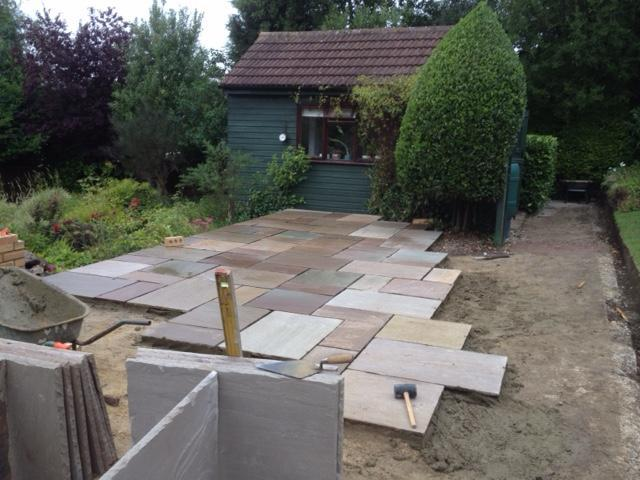 Image 3 - New sandstone patio build