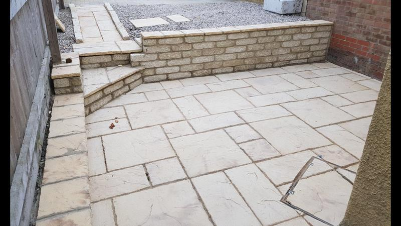 Image 26 - Wall bilt by us and also slabs laid by us.