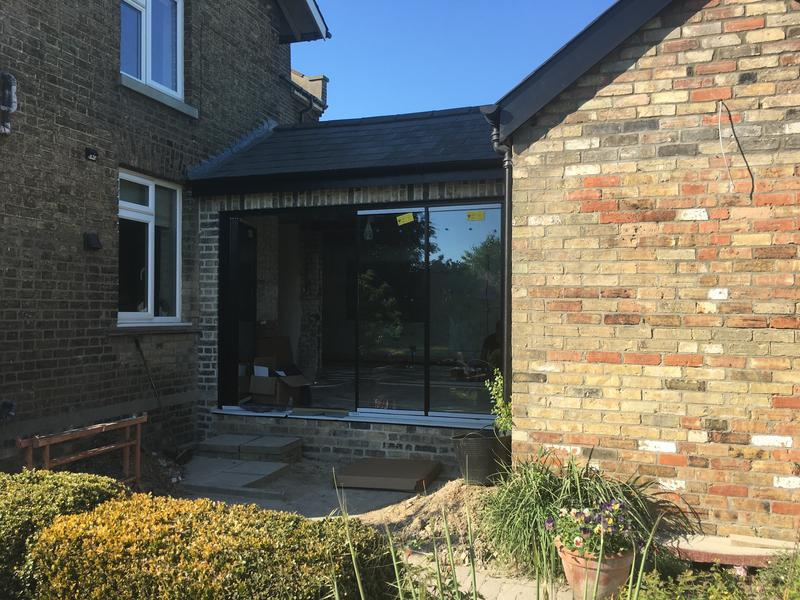 Image 72 - After: Bi-fold door opening created