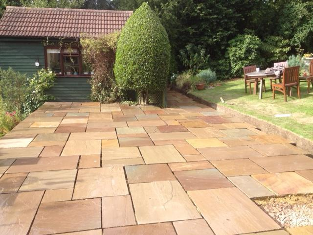 Image 4 - New sandstone patio build