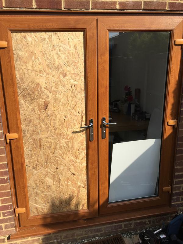 Image 34 - Boarded door till unit made
