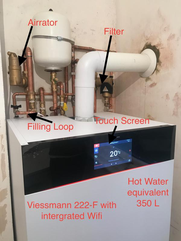 Image 6 - This is the new Viessmann 222-F this picture only show the boiler however the pipe work all had to be updated