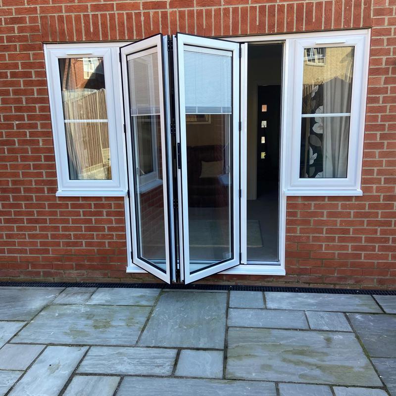 Image 1 - Aluminium Bifold door with integrated blinds, Cardea Peterborough,