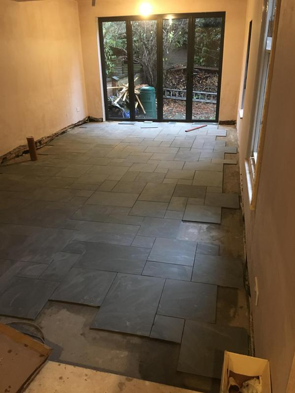 Image 160 - modular slate floor installed and sealed