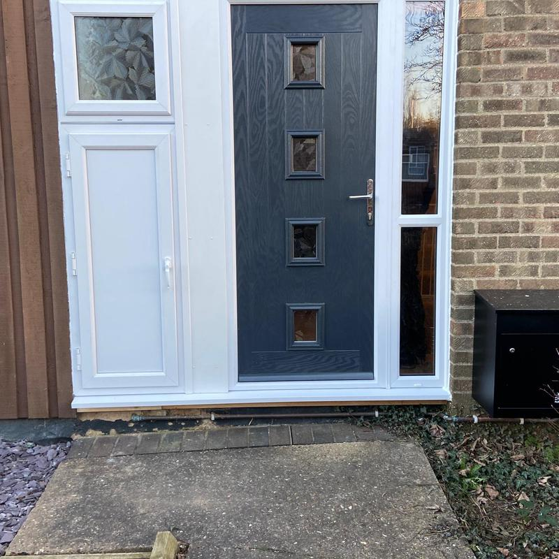 Image 8 - Composite door 4 square, Anthracite grey, Small WC window, replacement electric cupboard door. Bretton, Peterborough
