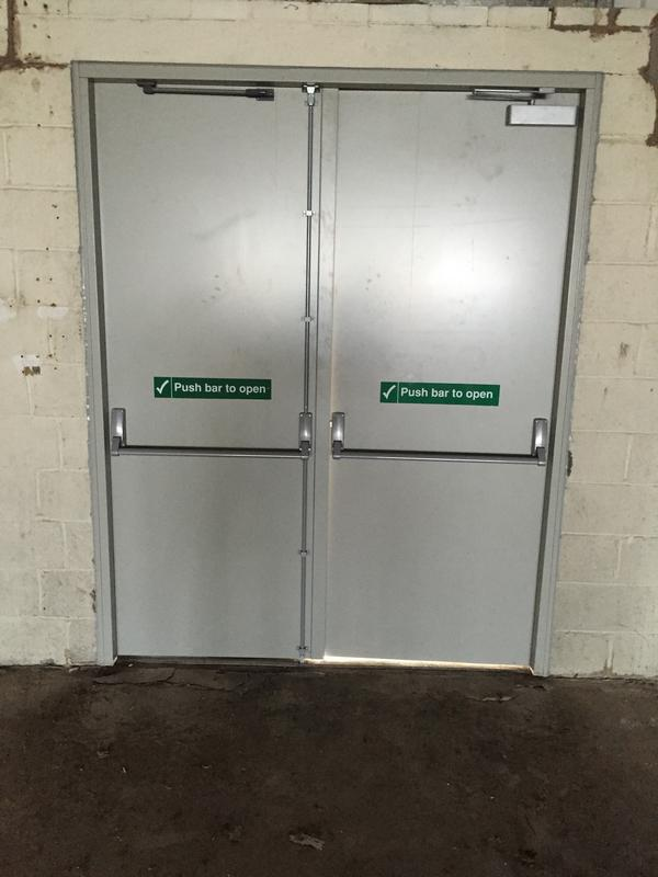 Image 29 - Installed panic bars to commercial unit