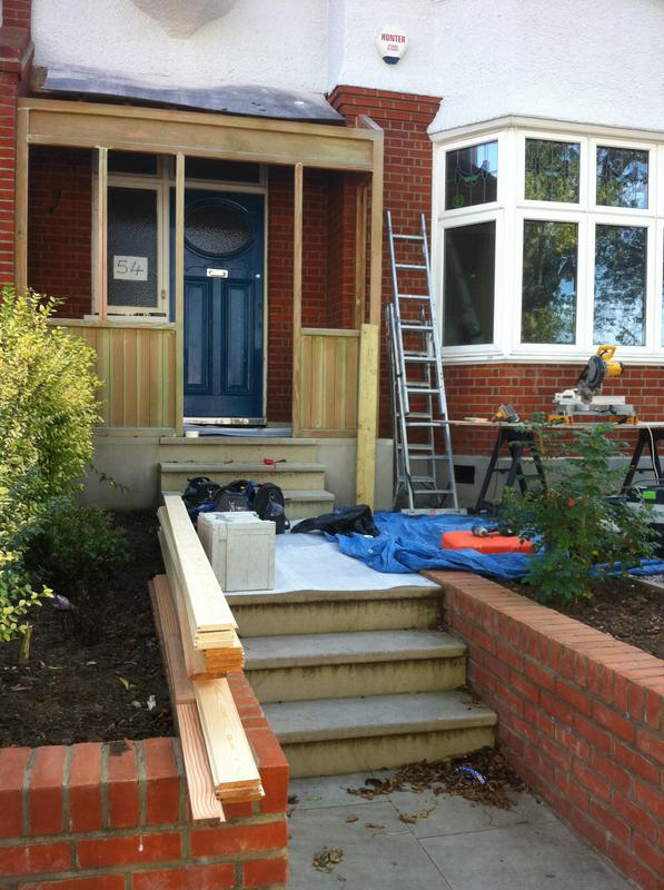 Image 16 - Work in progress - wooden entrance porch